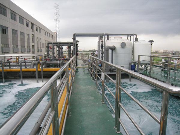 电镀废水处理工程现场施工效果图